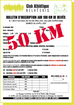Inscription aux 50km de Belvès